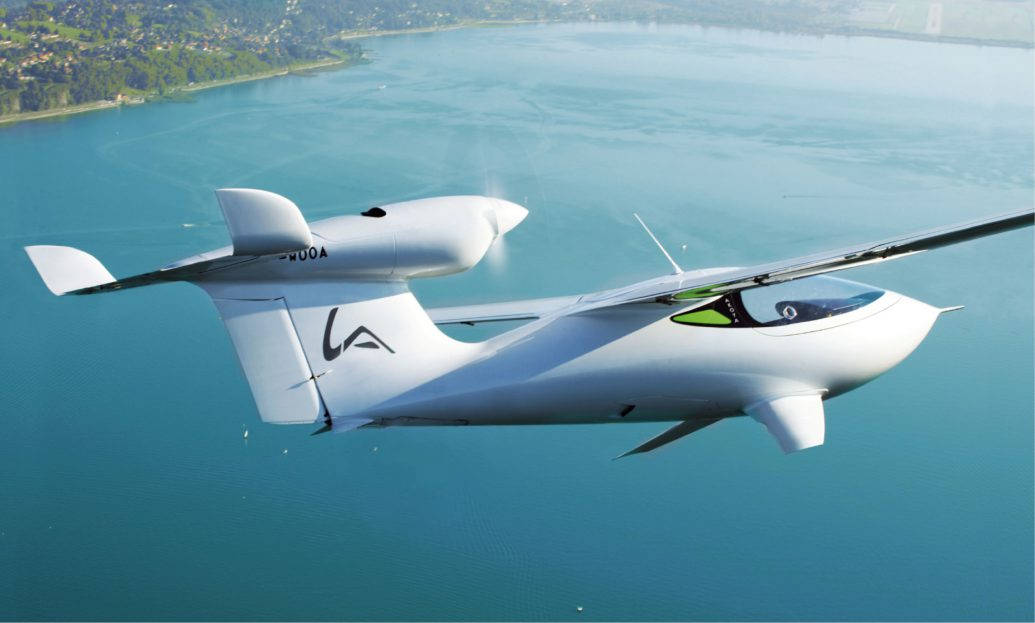 LSA airplane with hydrofoils technology and multi access