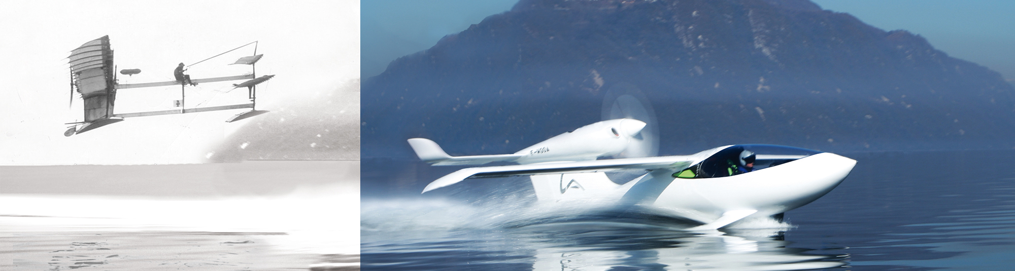 from last century seaplane to the amphibious airplane AKOYA by LISA
