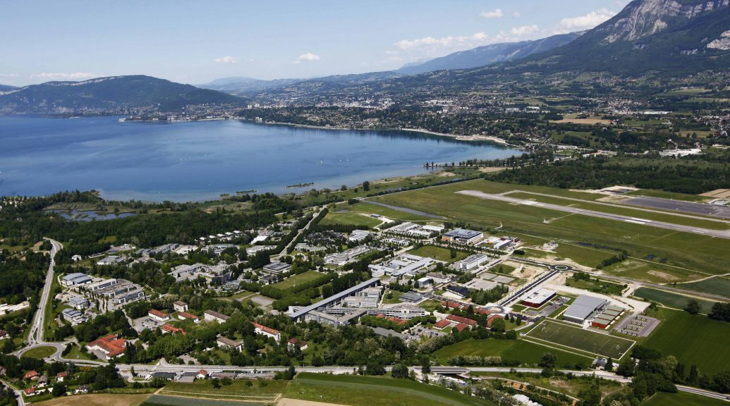 Savoie Technolac view, where LISA Airplanes is located.