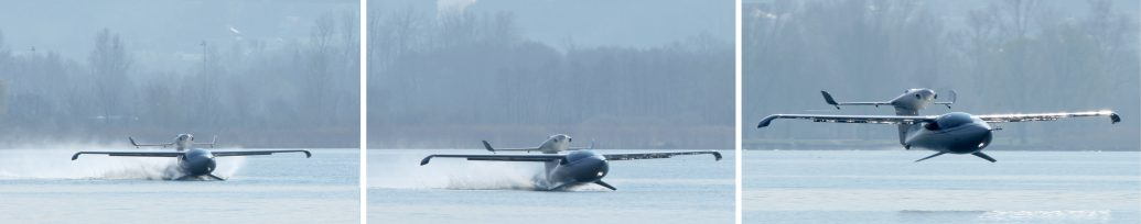 AKOYA Seaplane water takeoff