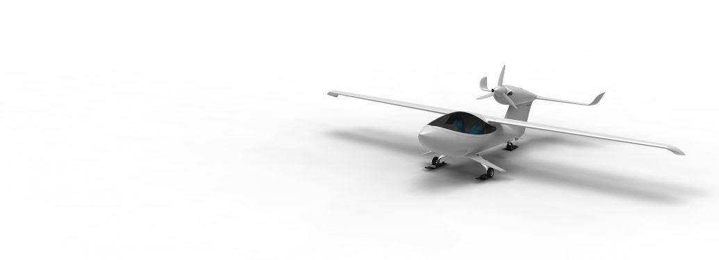 Akoya skiplane on white background